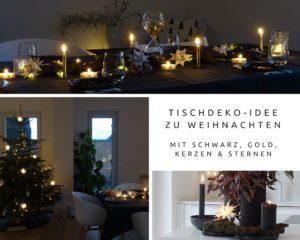 Weihnachtliche Tischdeko-Idee 'In sternklarer Nacht' | mammilade.com