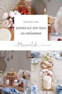 Eine sommerliche Tischdeko-Idee: Hej Midsommar | mammilade.com