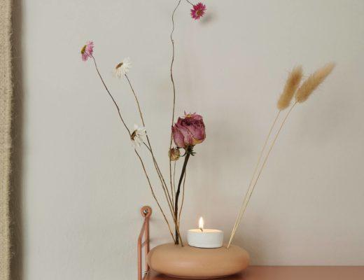 DIY-Kerzenhalter aus Fimo fuer Flowerstone mit Trockenblumen | mammilade.com