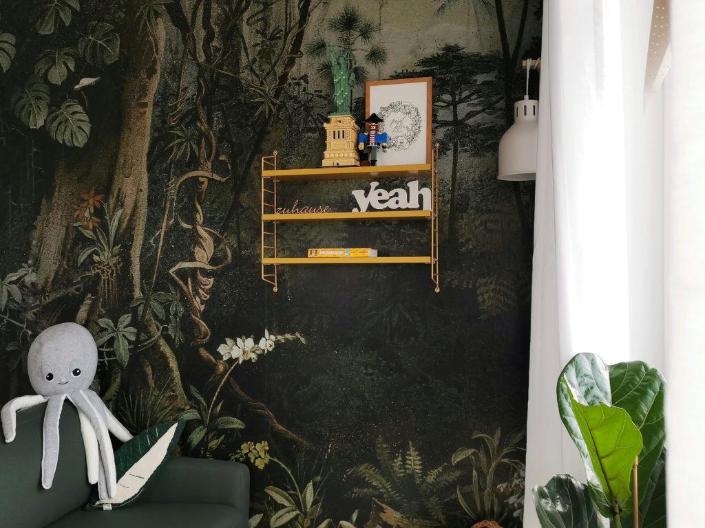 Kinderzimmer-Makeover mit Dschungel-Tapete | mammilade.com