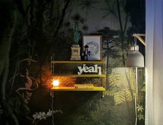 Kinderzimmer-Makeover mit Dschungel-Tapete   mammilade.com